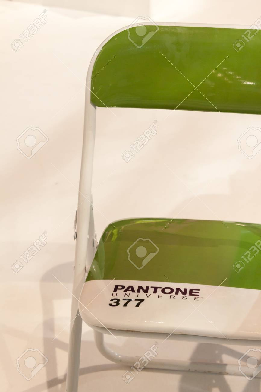 Milan Italy September 13 Detail Of Pantone Chair On Display Stock Photo Picture And Royalty Free Image Image 31841500