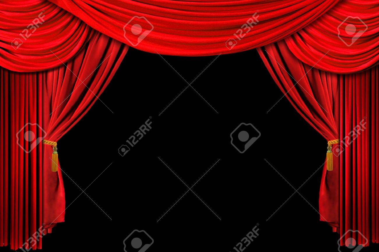 Red stage curtains - Download