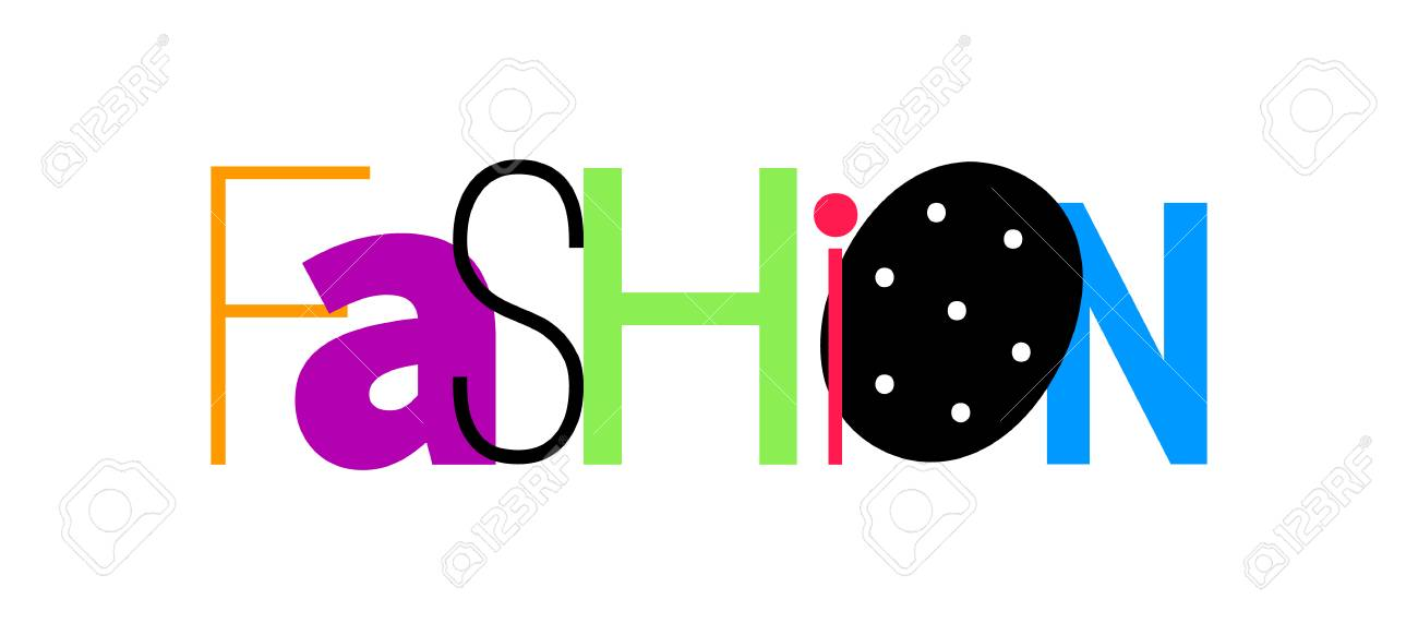 Artistic Design Of A Vector Word Fashion Royalty Free Cliparts