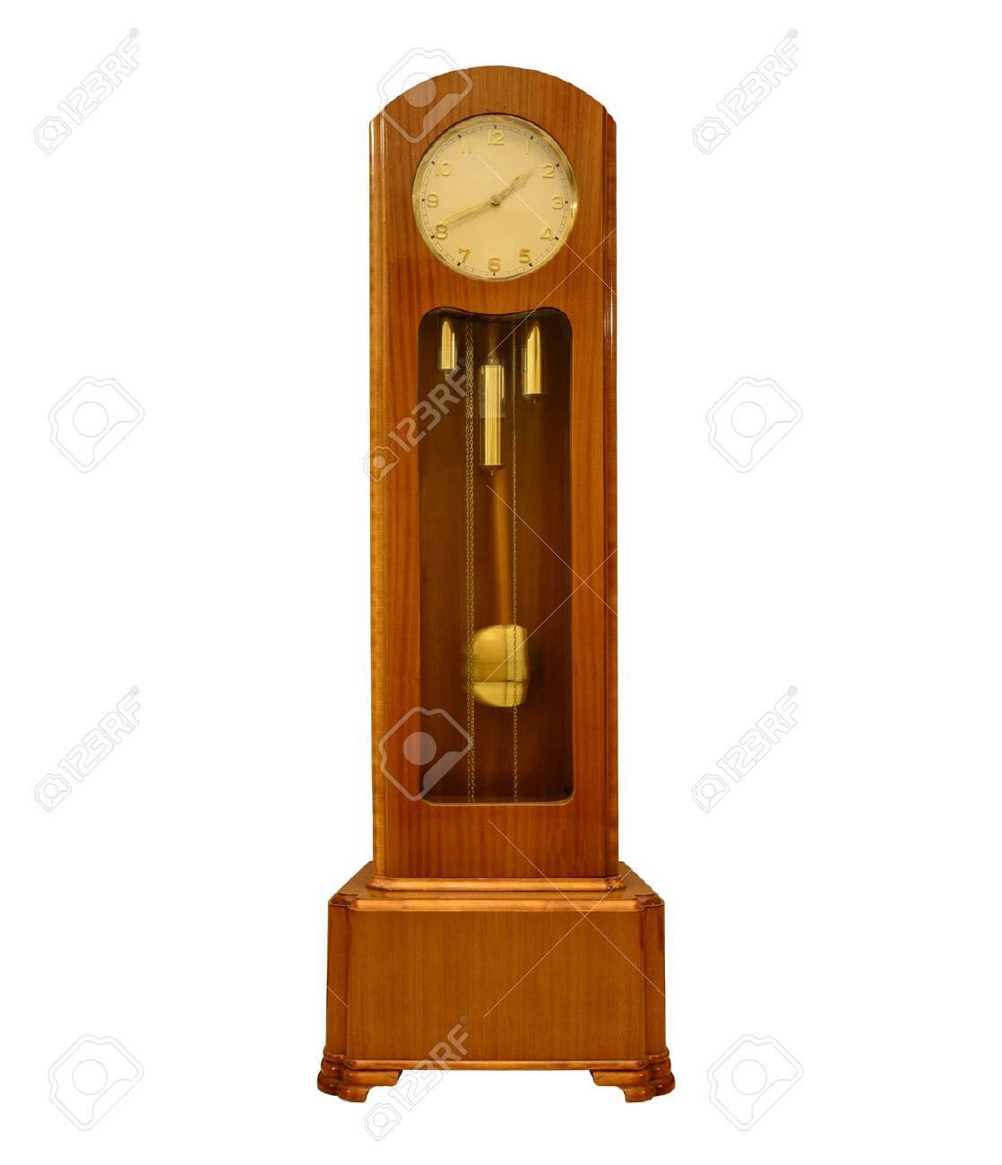 Standuhr Digital Vintage Grandfather Clock On White