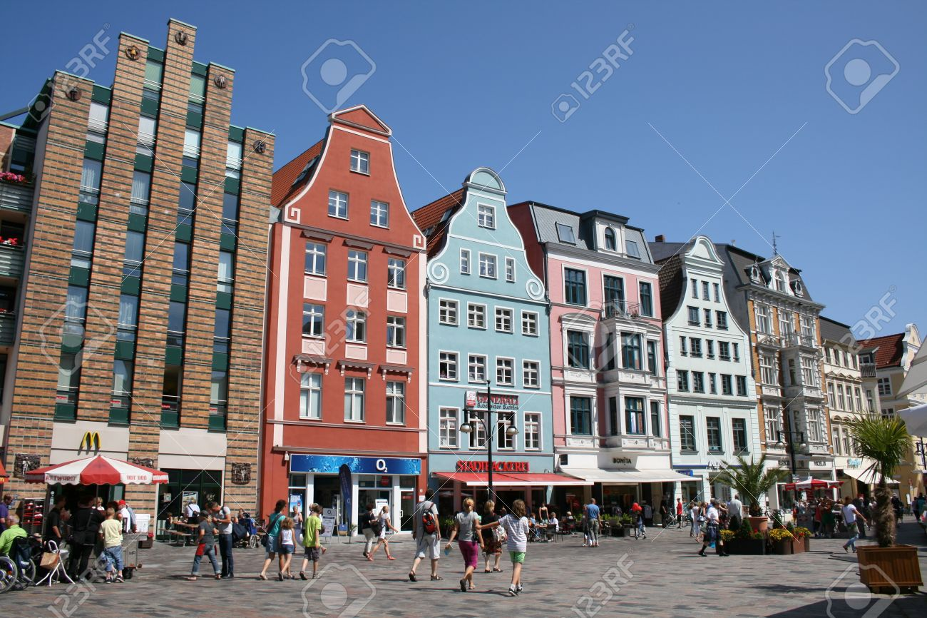 Rostock Shopping Main Shopping Street In Rostock Germany