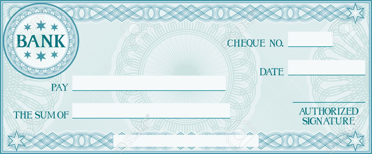 Check With Space For Your Own Text (bank Cheque, Bank Cheque