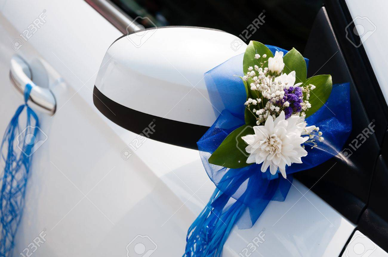 Car Decoration Weding Wedding Car Decoration With Flowers And Ribbons