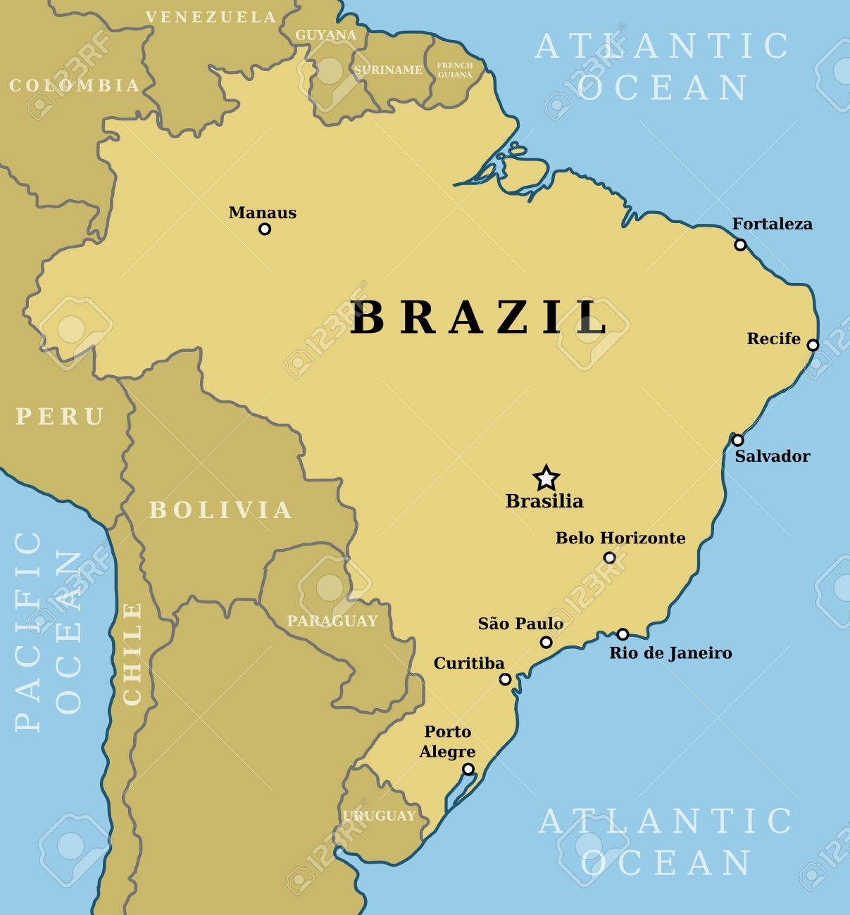 Usa Canada Major Cities Map Brazil Driving Directions With - Map of cities in usa and canada