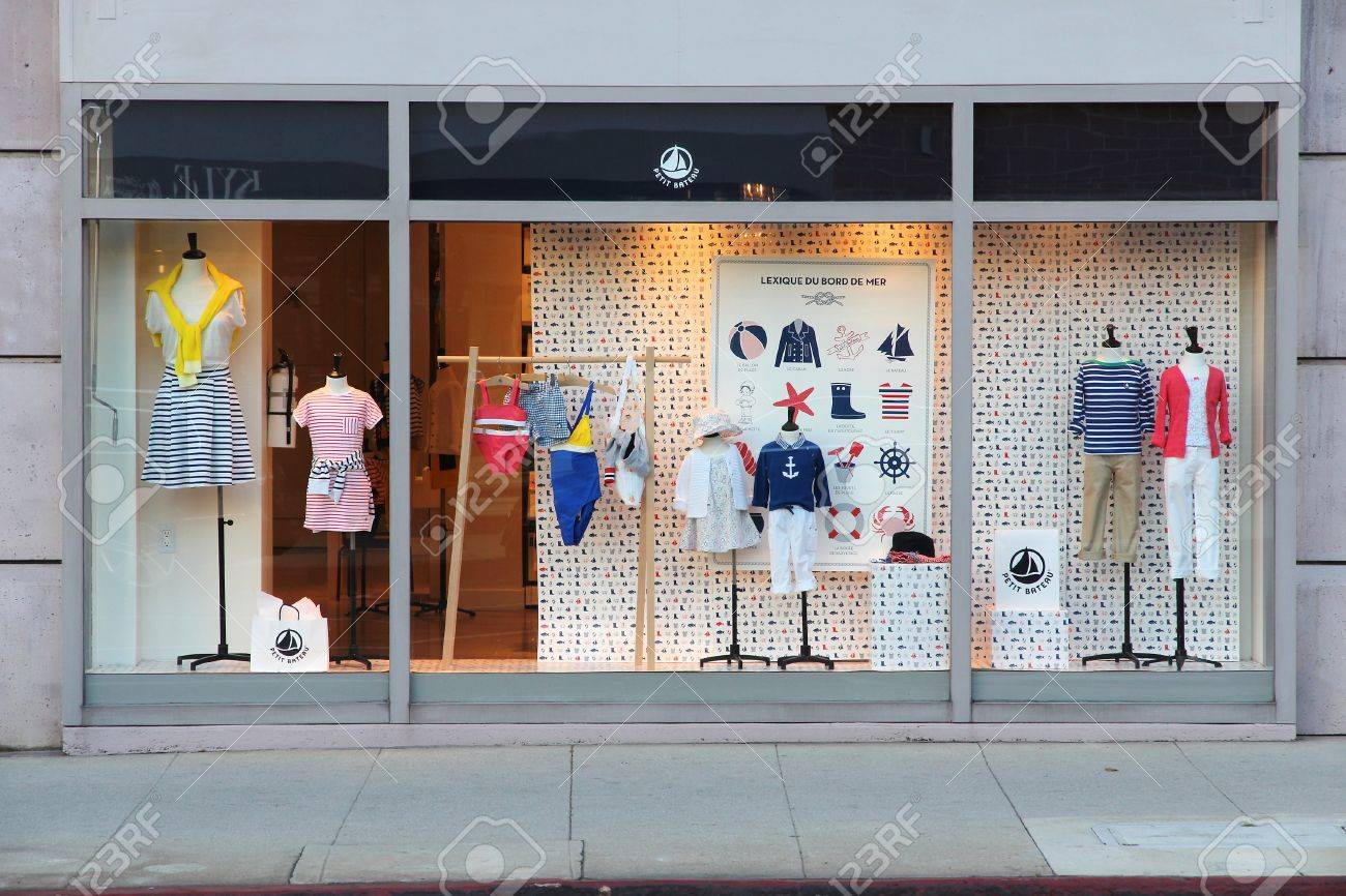 Petit Store Los Angeles Usa April 5 2014 Petit Bateau Store In Beverly