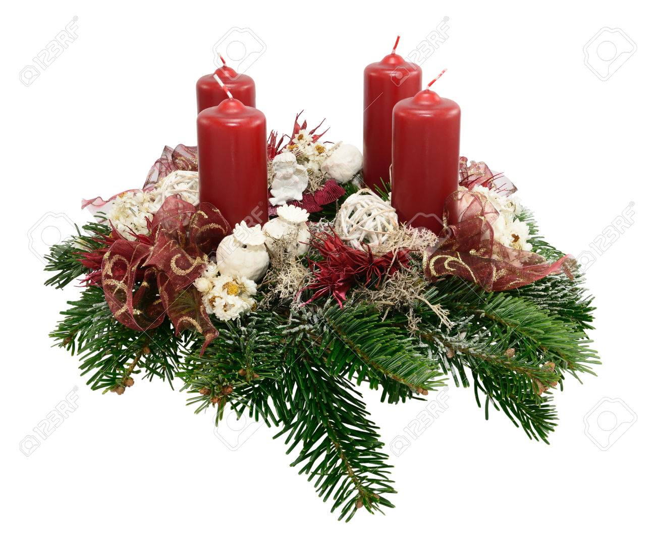 Kerzen Für Adventskranz Stock Photo