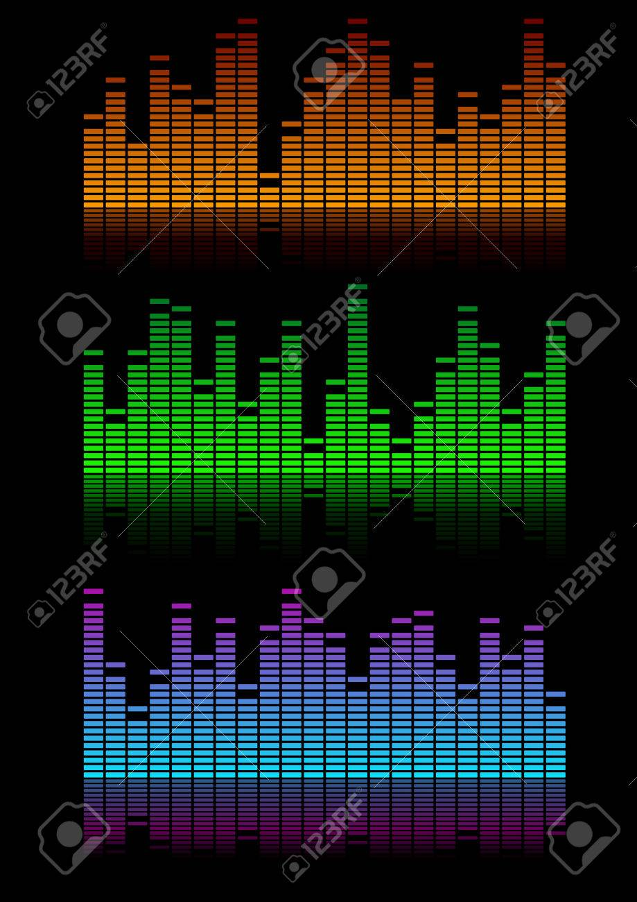 Musik Visualisierung Stock Photo