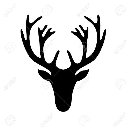 Medium Of Deer Head Silhouette