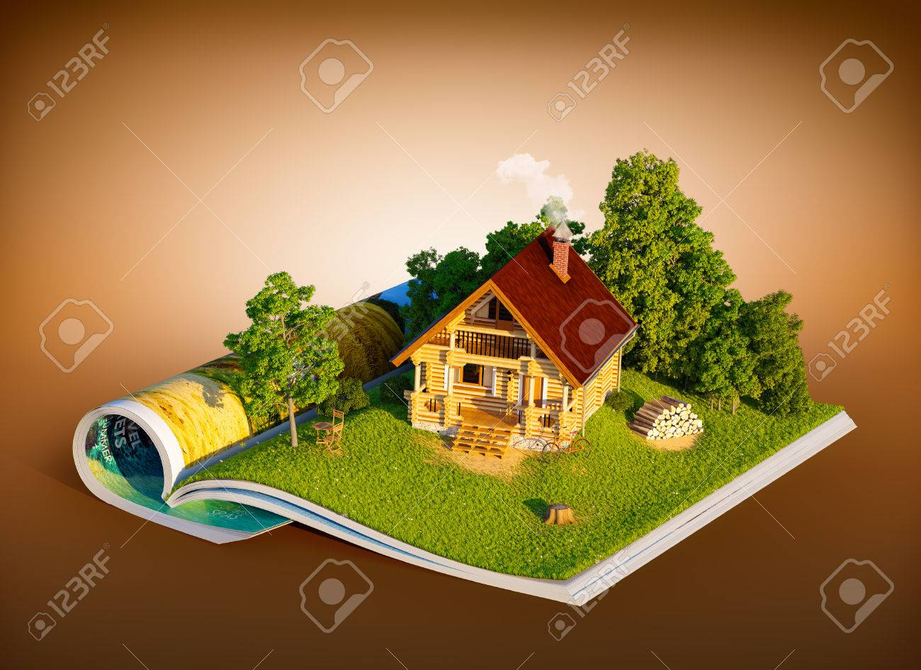 Landhaus Magazin Stock Photo
