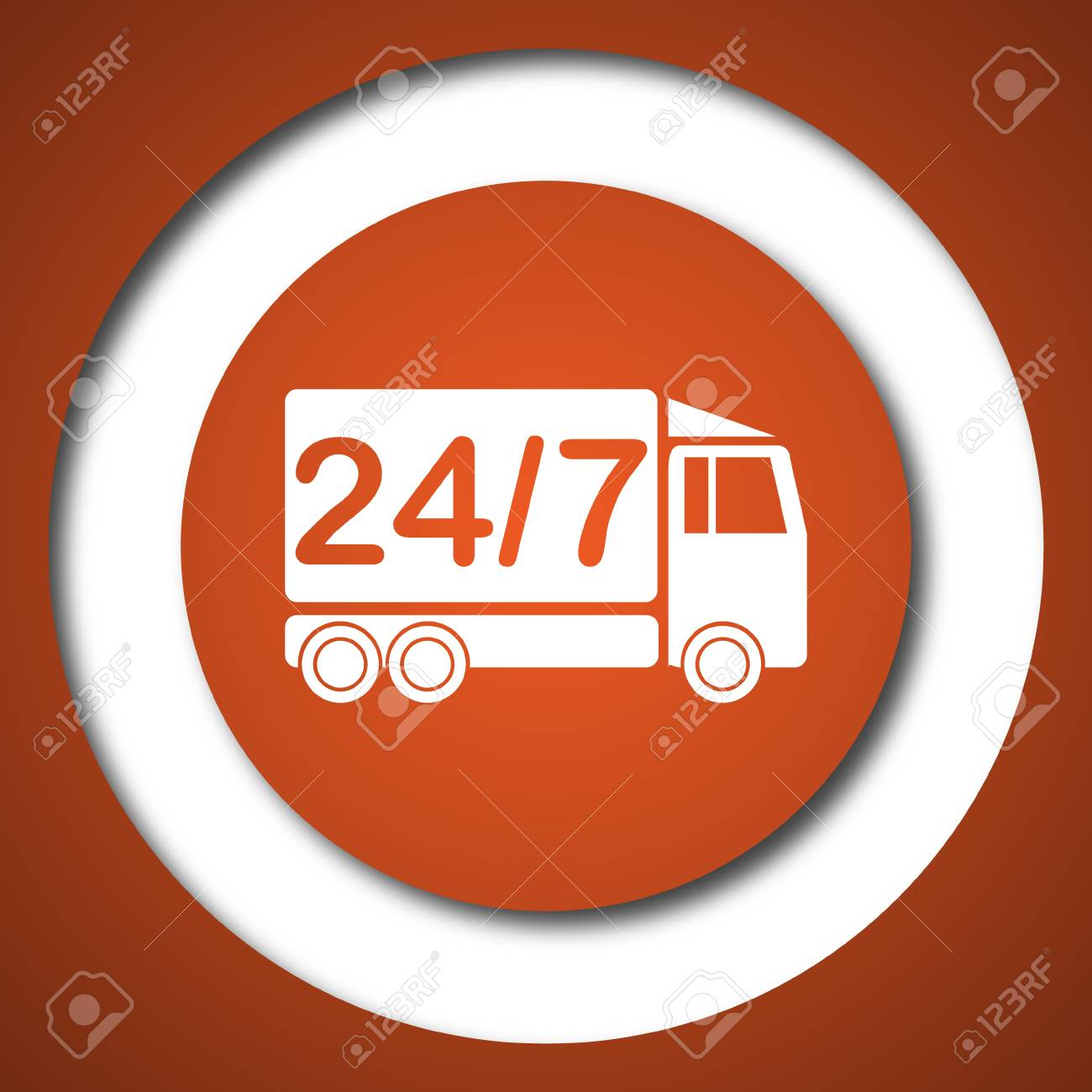 24 Internet 24 7 Delivery Truck Icon Internet Button On White Background