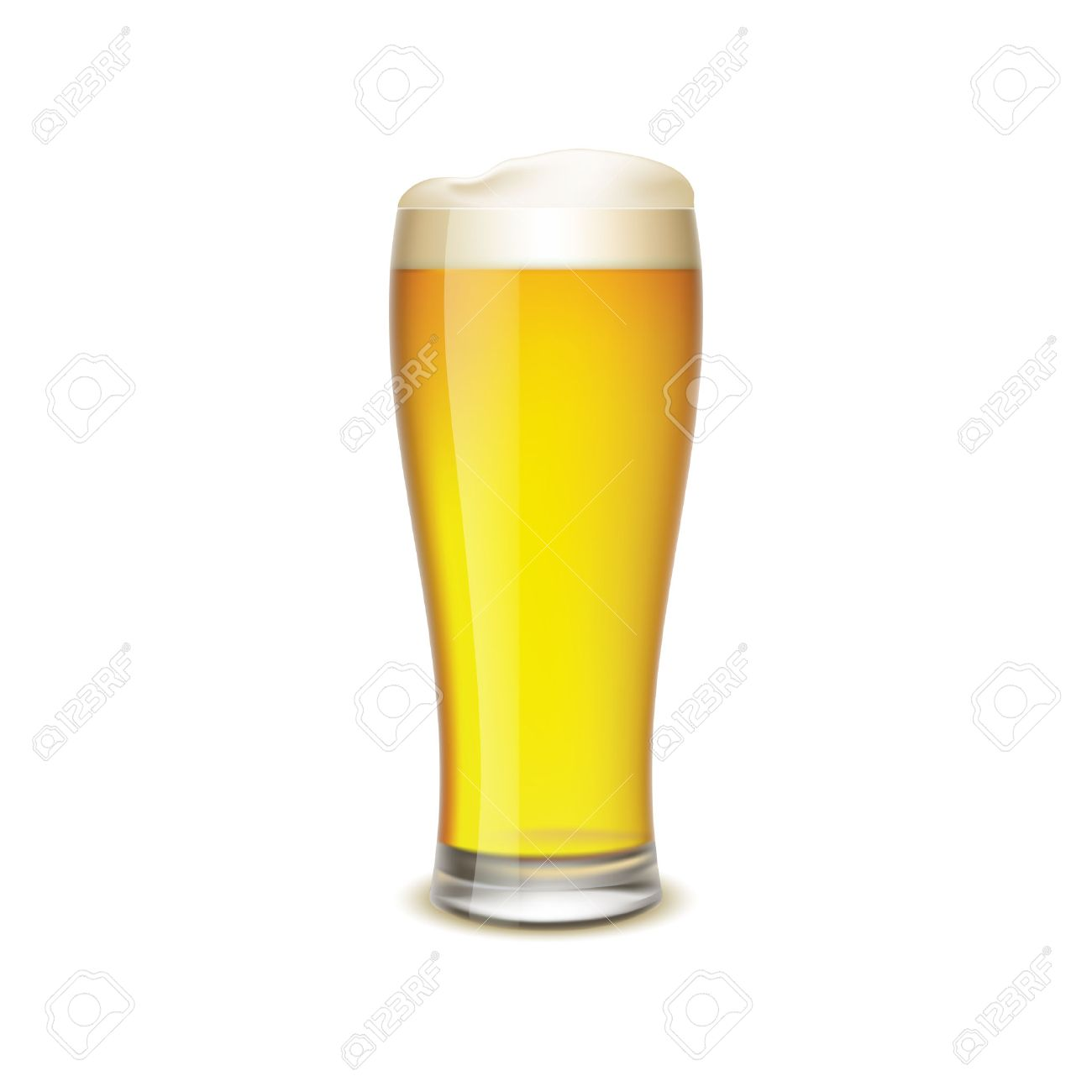 Bier Glas Glass Of Beer Isolated On White Background