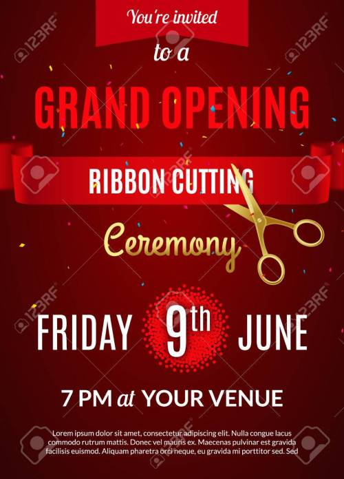 Medium Of Grand Opening Invitation