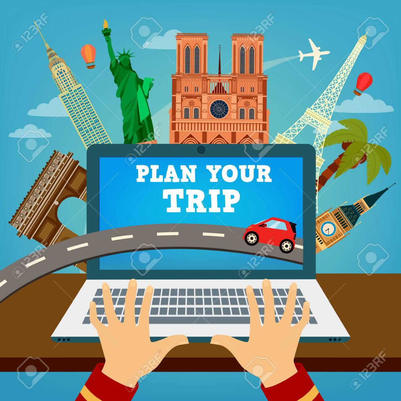 Trip Travel Plan Your Trip Travel Banner Time To Travel Vacation Planning