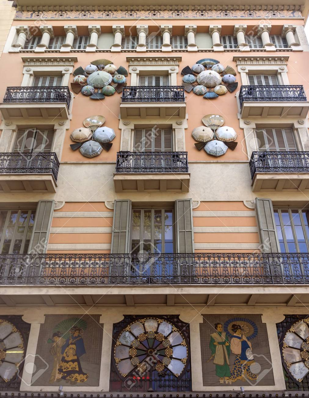 Casa Bruno Barcelona Spain July 6 2015 Casa Bruno Cuadros Called Umbrella