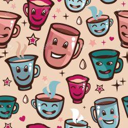 Small Of Cartoon Tea Cups