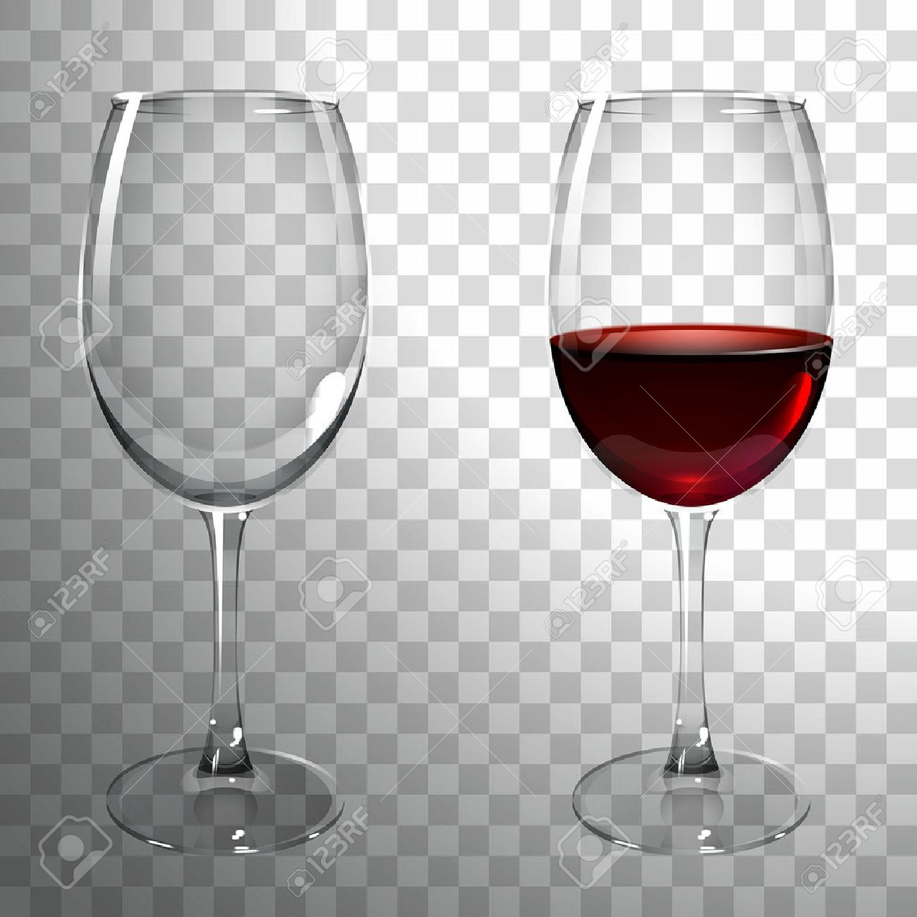 Red Wine Glasses For Sale Glass Of Red Wine On A Transparent Background
