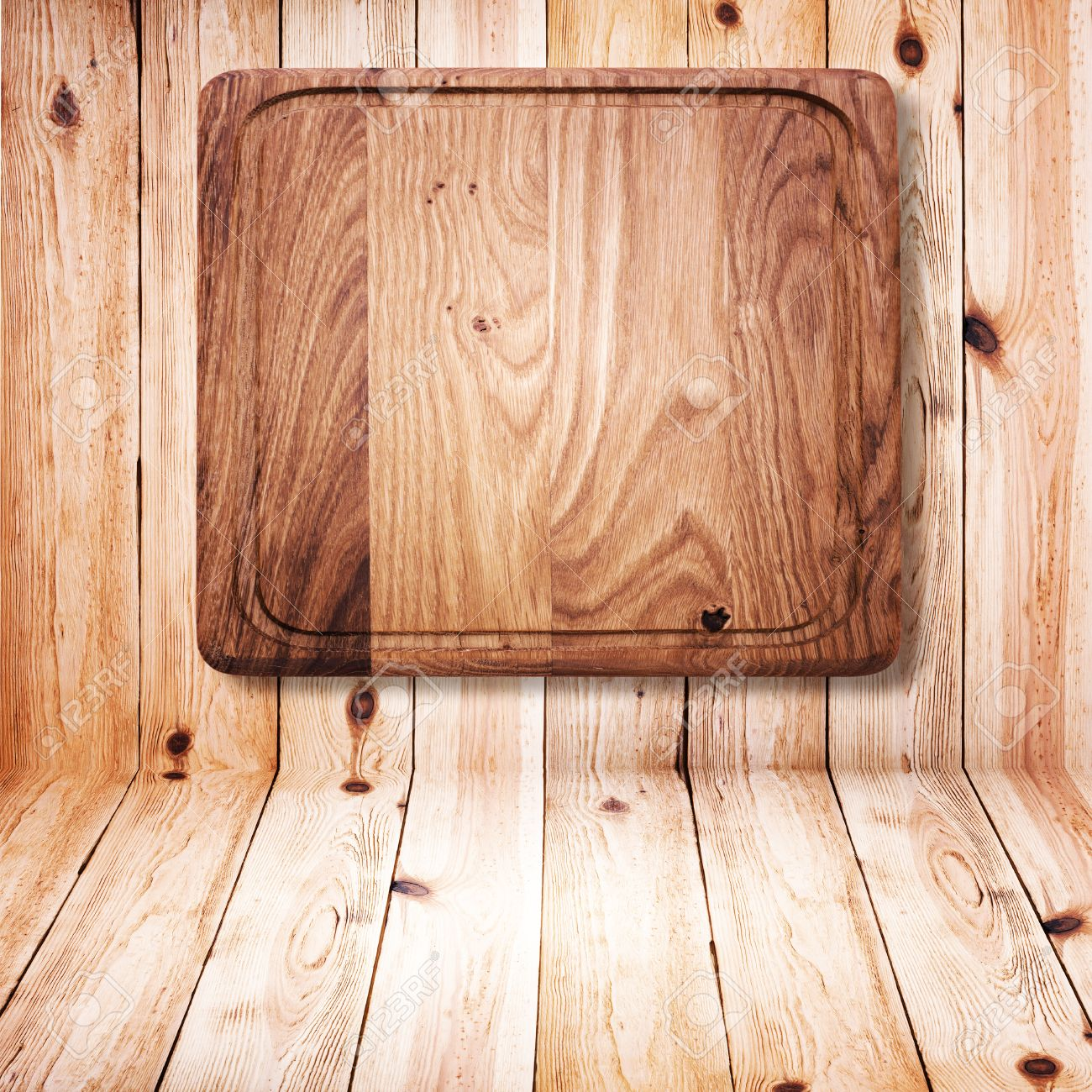 31084260 Wood texture Wooden kitchen cutting board close up Empty wooden table on white background for produc Stock Photo