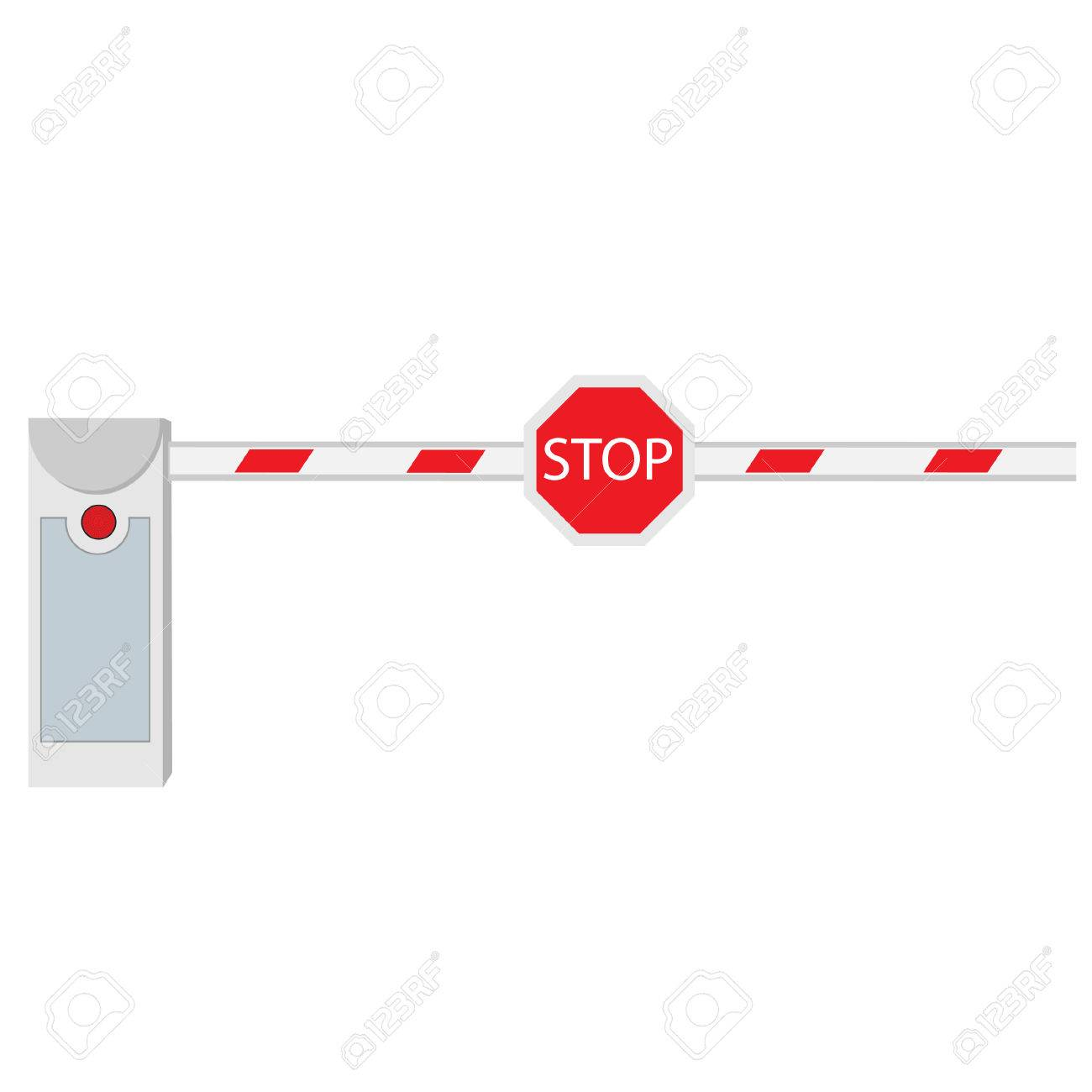Schranke Clipart Closed Barrier Road Barrier Barrier Raster Isolated On White