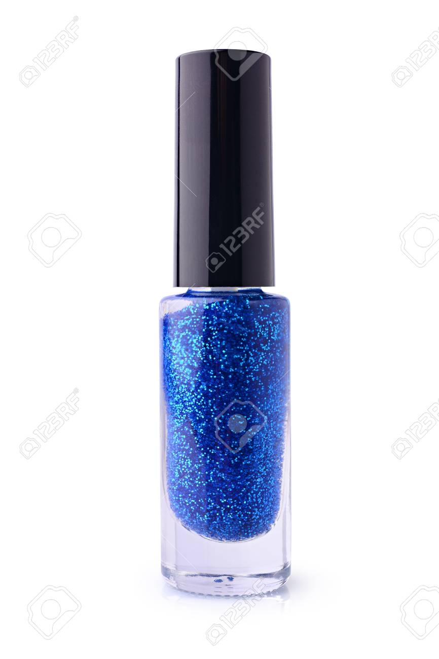 Nagellack Glitzer Stock Photo