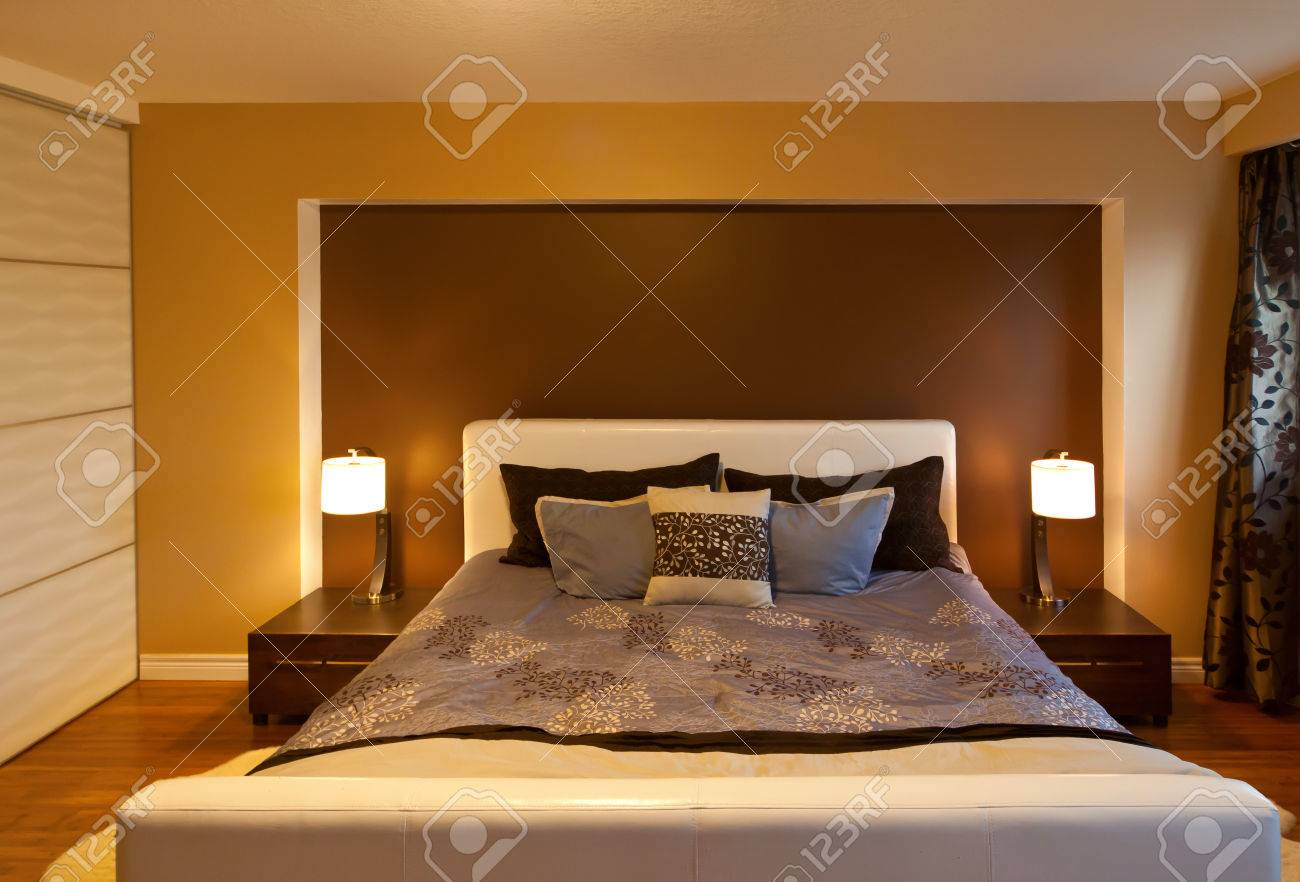 Moderne Innenarchitektur Schlafzimmer Stock Photo