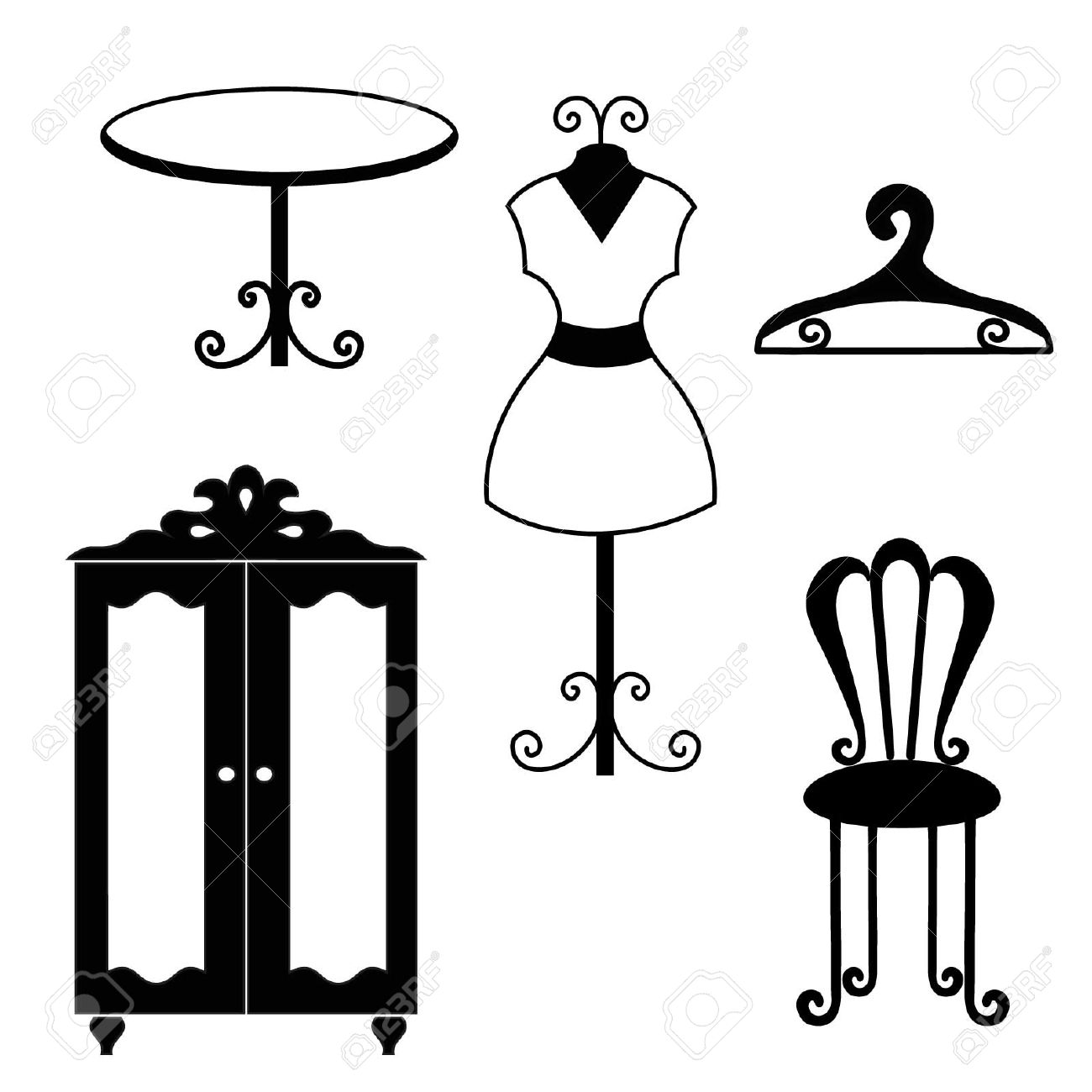 Antique chair silhouette -  Furniture Antique Furniture Silhouettes Download