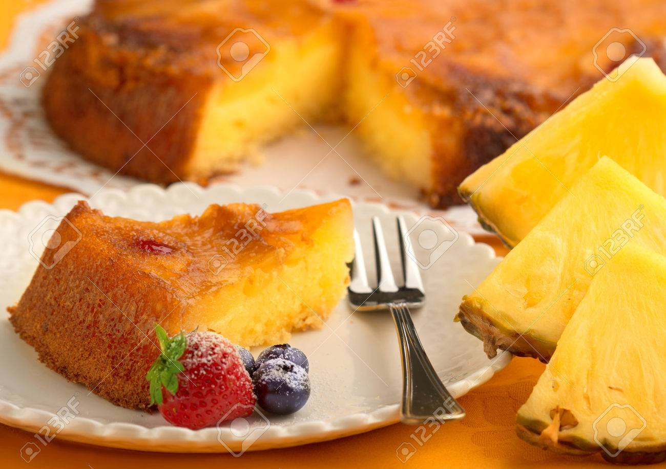 Kuchen Ananas Stock Photo