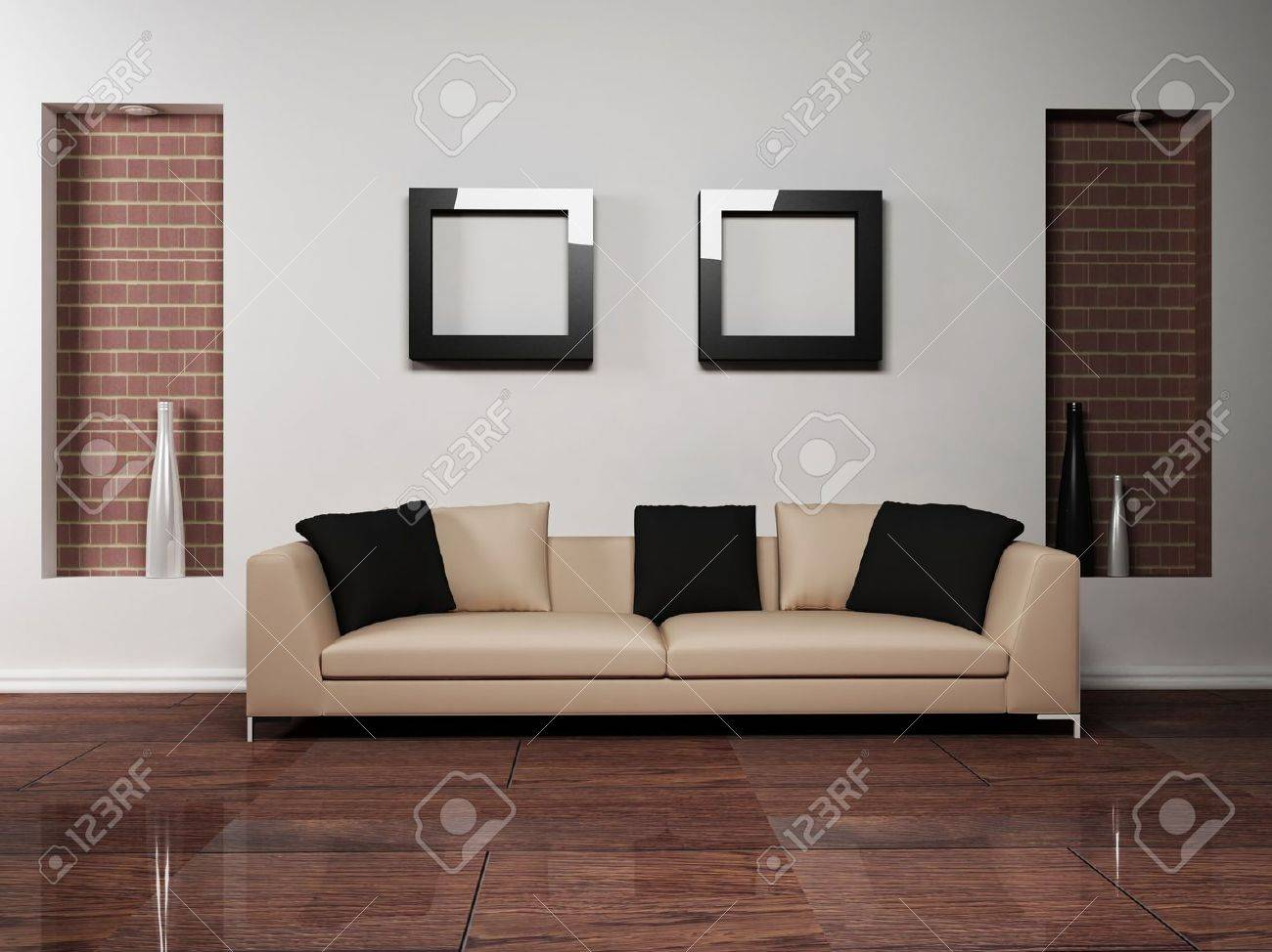 Moderne Innenarchitektur Wohnzimmer Stock Photo
