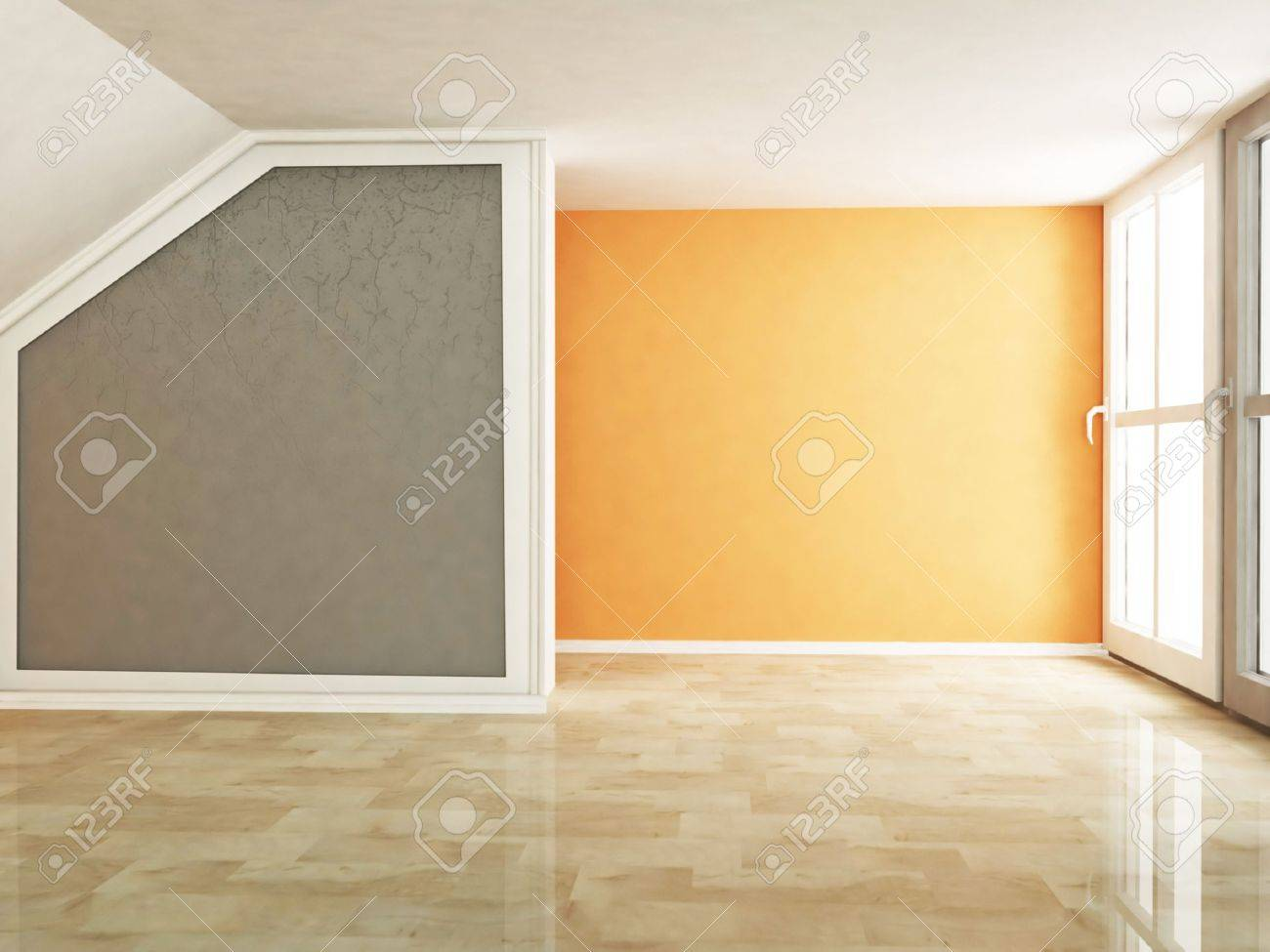 Empty living room with large windows can be as background stock -  Large Windows Can Be As Background Stock Living Room Background Empty Download