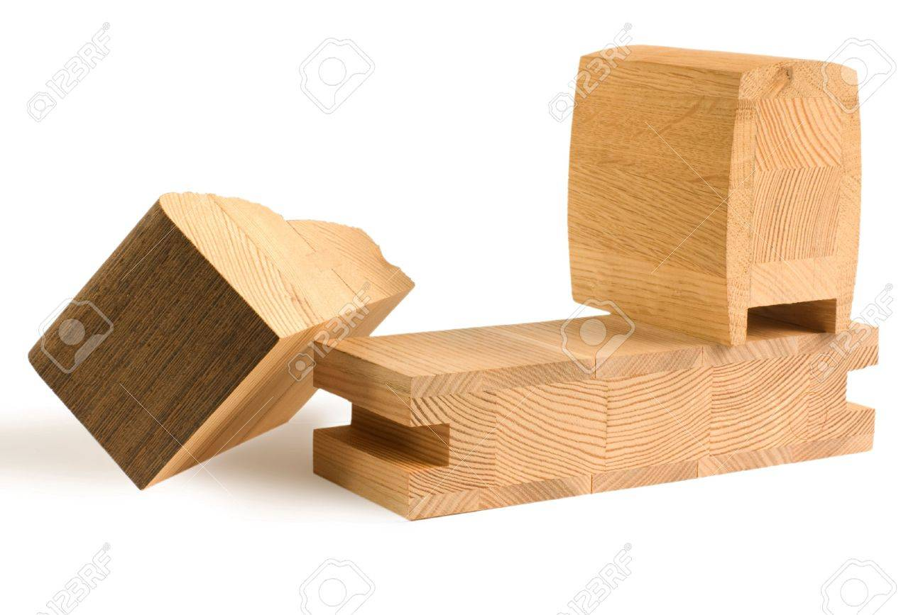 Möbel Aus Wenge Holz Stock Photo