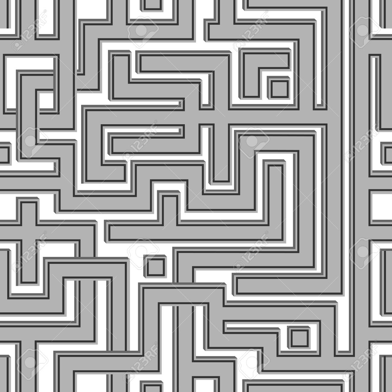 Shads Of Gray Abstract Seamless Pattern Resembling A Maze Illustration Done In Shades Of Gray