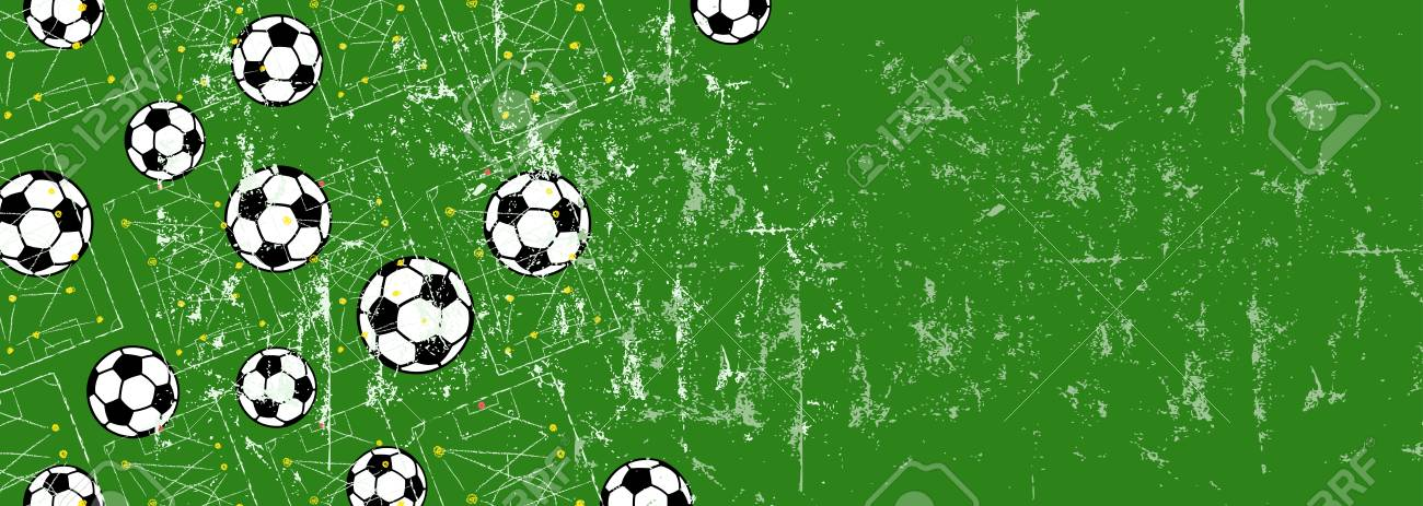 Soccer, Football Design Template Background With Copy Space Royalty