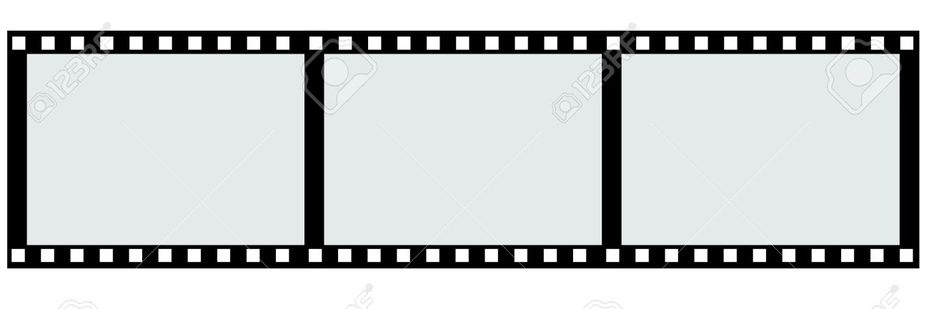 Border 3 Piece Of Film Strip Stock Photo, Picture And Royalty Free