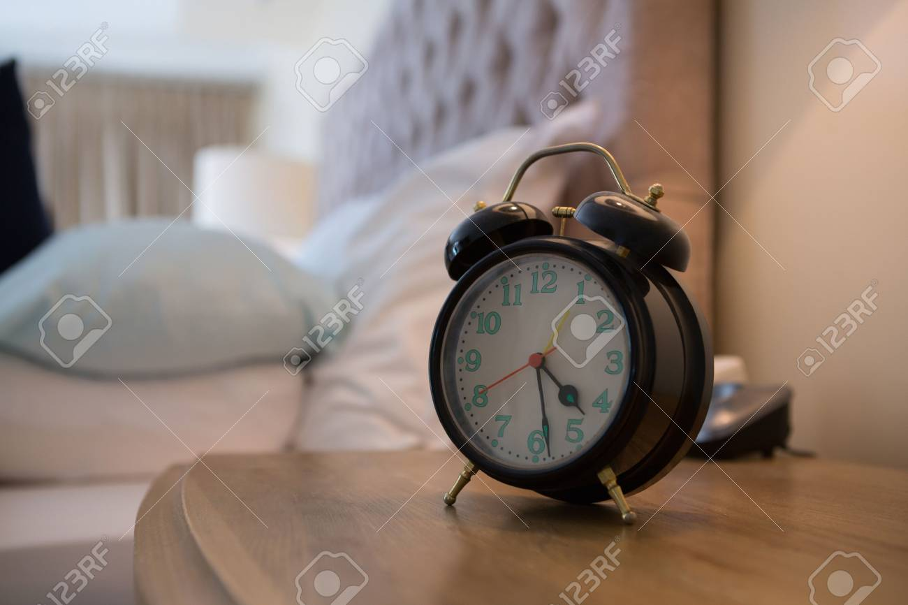 Trendy Bedroom Stock Photo Bedroom Minecraft Clock Led Clock Alarm Clock On Table Bedroom Bedroom Stock Of Alarm Clock On Table furniture Clock For Bedroom