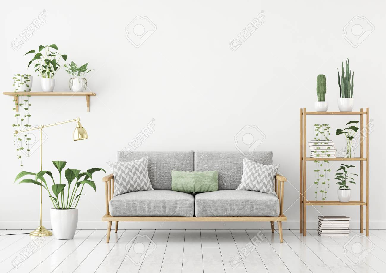 Urban Sofa Nederland Urban Jungle Style Livingroom With Gray Sofa Golden Lamp And