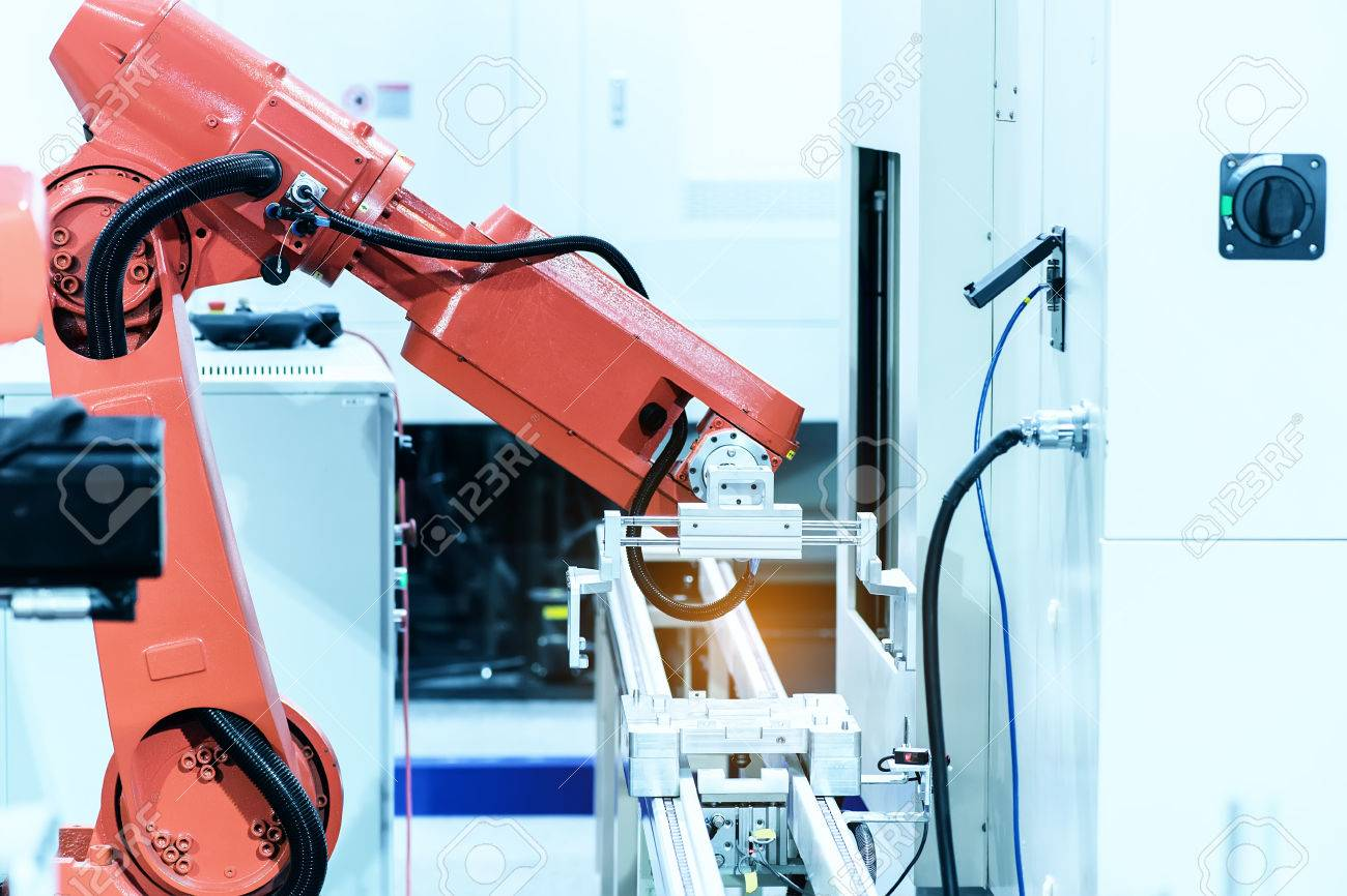 Industriel Machine Industrial Machine And Factory Robot Arm Smart Factory Industry