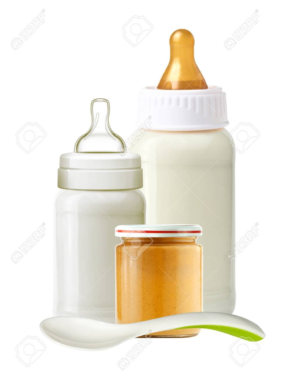 Babyflasche Glas Stock Photo