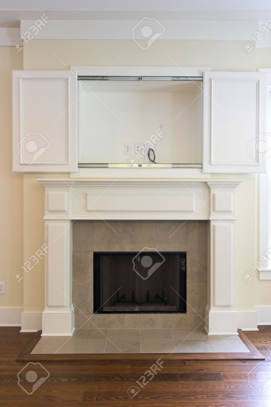 Open Cabinet Fireplace With Open Cabinet For Flatscreen Tv Can Be Paired