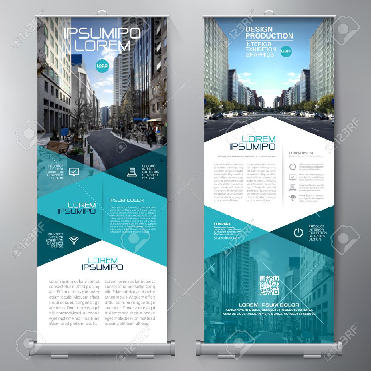 Rollup Business Roll Up Standee Design Banner Template Presentation