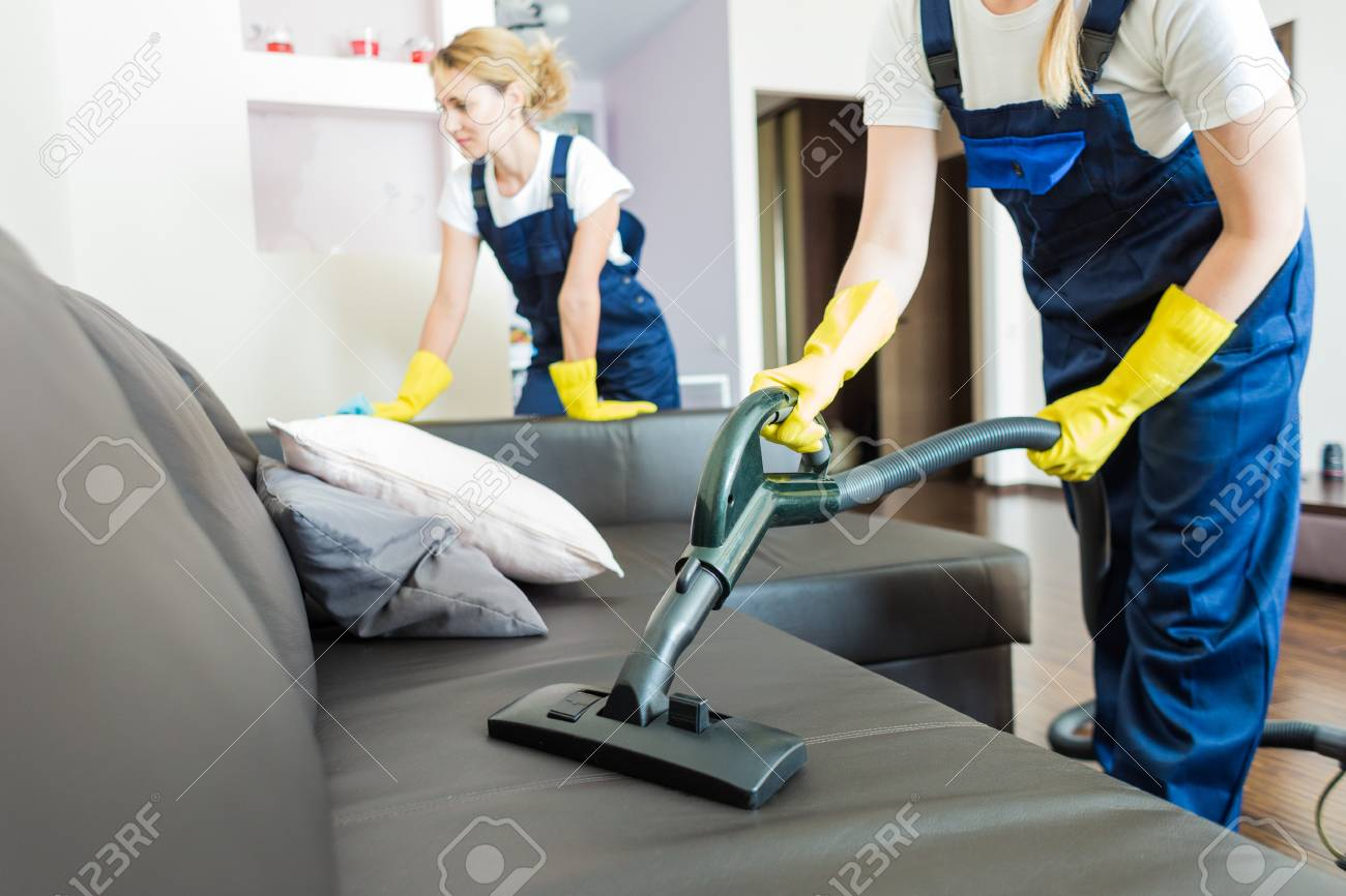 How To Dry Clean Sofa At Home Stock Photo