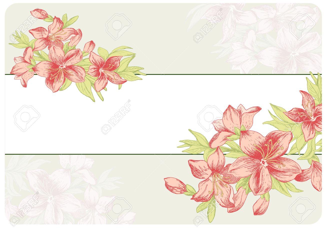 Floral vintage background - Download Floral Ornament In Baroque Style Hand Drawn Garden Flowers Vintage Background