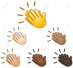 Cosmopolitan Various Skin Tones Clapping Stock Royalty Free Clapping Images What Do Praise Hands Emoji Mean Praise Hands Emoji Shirt Clapping Hands Sign Emoji Set