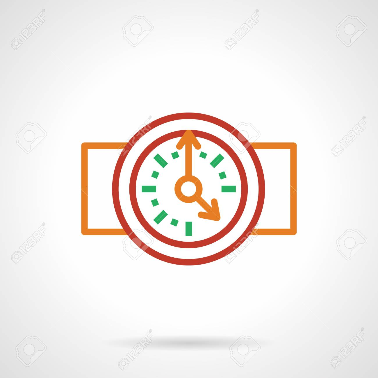 Rote Wanduhr Stock Photo