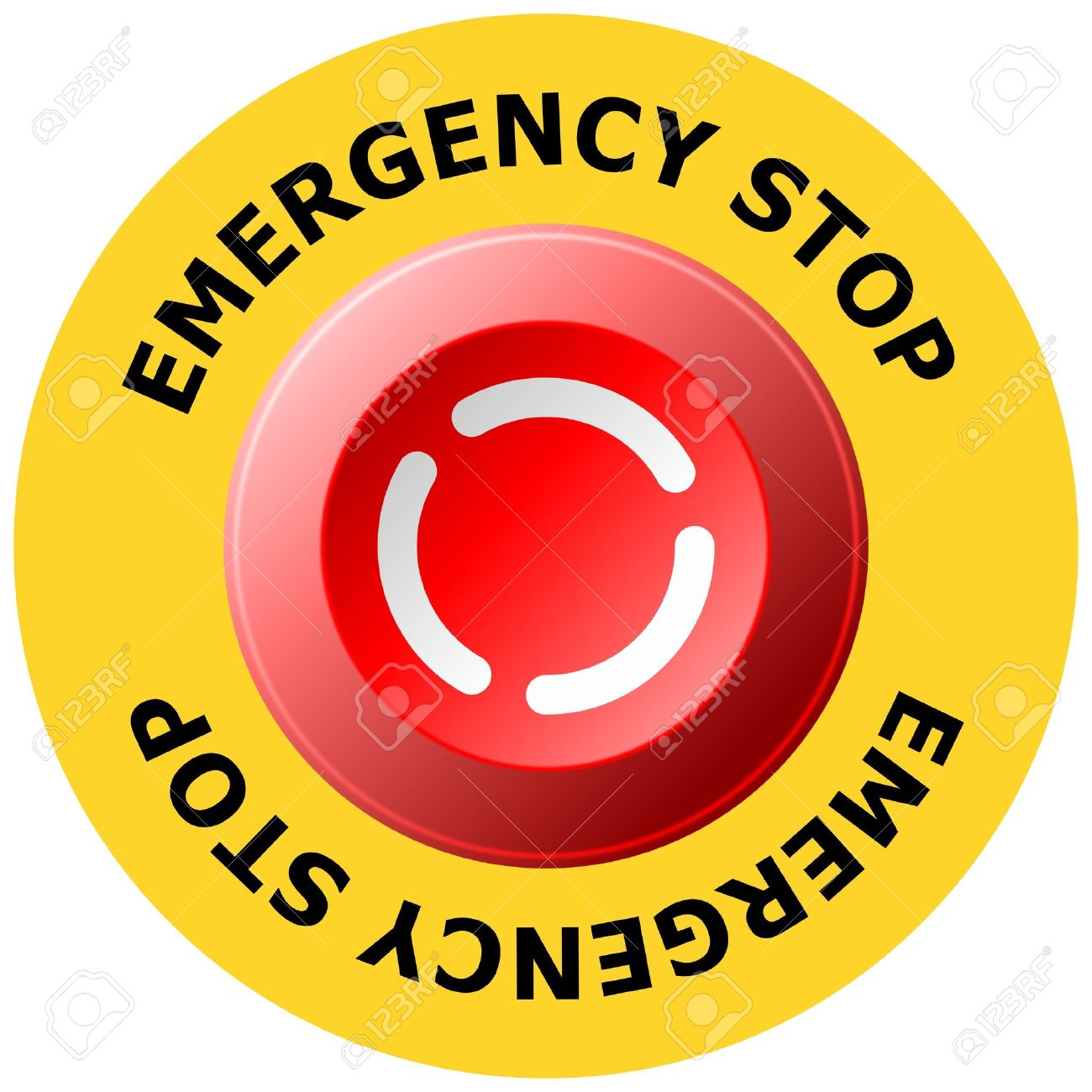 Emergency stop button stock vector 4885251