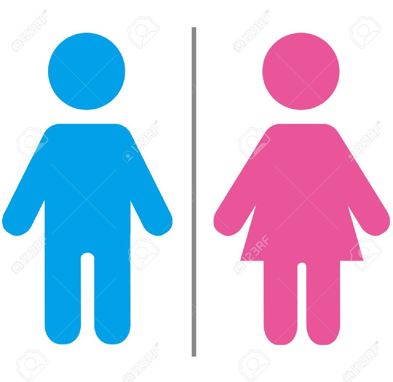 Restroom Sign Cute Male And Female Sign  Download. Female Bathroom Sign Image