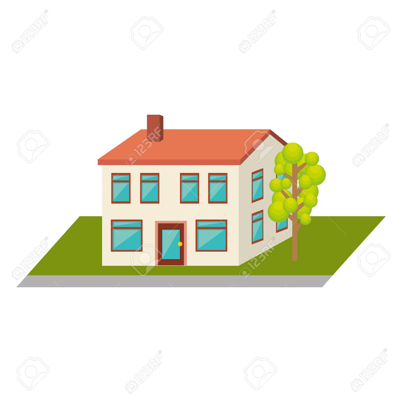 Exterior Cute House Icon Vector Illustration Design Royalty Free Cliparts Vectors And Stock Illustration Image 69337836