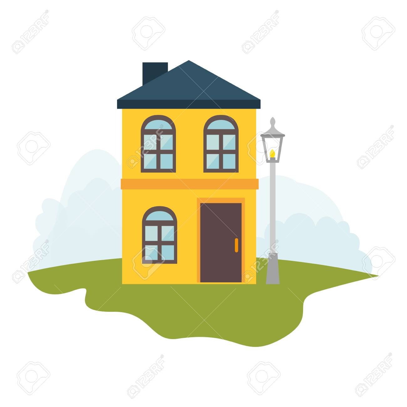 Exterior Cute House Icon Vector Illustration Design Royalty Free Cliparts Vectors And Stock Illustration Image 69437549