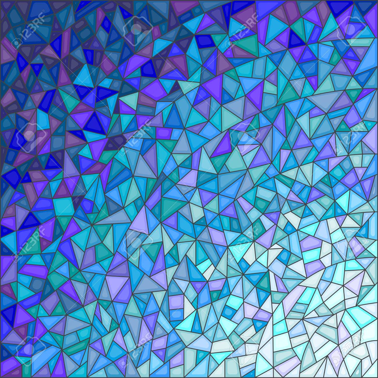 Gamma Glas Abstract Stained Glass Background Gamma Blue