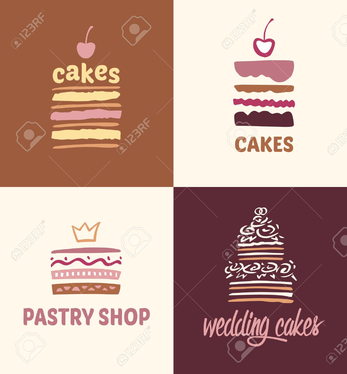 Kuchen Logo Stock Photo
