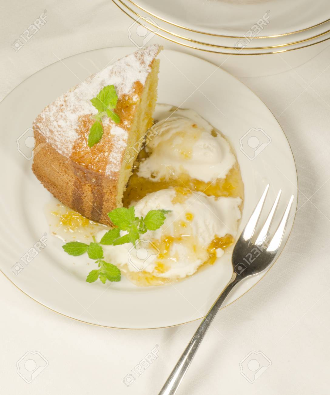 Maismehl Kuchen Backen Stock Photo