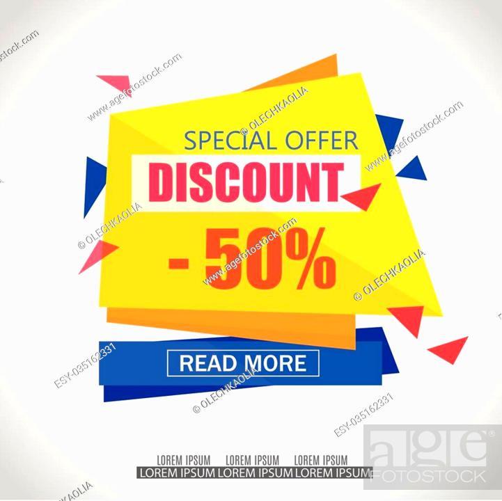 Discount Sale Paper Banner Design Big Sale tag Sale poster50 off